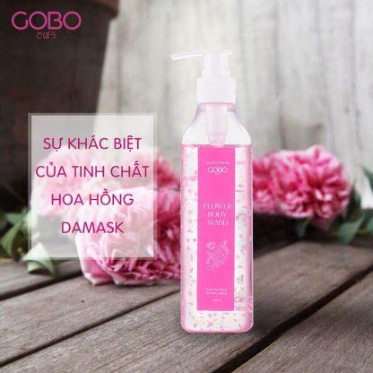 sữa tắm cánh hoa hồng Gobo